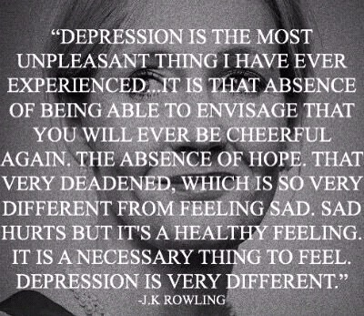 On being depressed J K Rowling