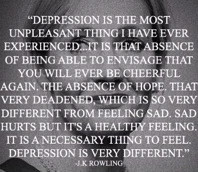 On being depressed J K Rowling